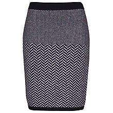 Buy Betty Barclay Herringbone Jersey Skirt, Grey Online at johnlewis.com