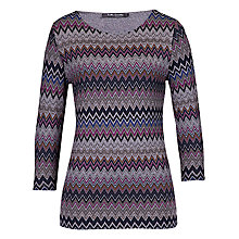 Buy Betty Barclay Zig Zag T-shirt, Multi Online at johnlewis.com