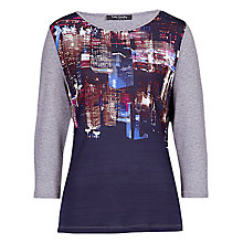 Buy Betty Barclay City Print T-shirt, Blue/Grey Online at johnlewis.com