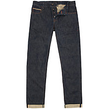 Buy Ted Baker Socroft Slim Fit Selvedge Denim Jeans, Rinse Denim Online at johnlewis.com