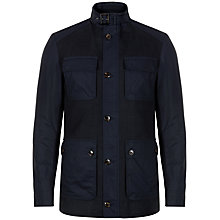 Buy Ted Baker Roslin Cotton Fitted Coat, Navy Online at johnlewis.com