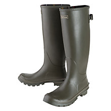 Buy Barbour Jarrow Wellington Boots, Olive Online at johnlewis.com