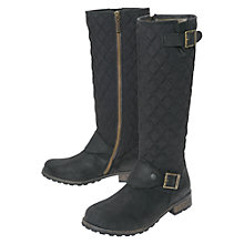 Buy Barbour Hoxton Leather Quilted Biker Knee High Boots Online at johnlewis.com