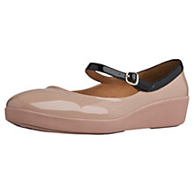 Buy Fitflop F-Pop Patent Mary Jane Pumps, Nude Online at johnlewis.com