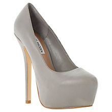 Buy Steve Madden Delerius Platform Stiletto Nubuck Leather Court Shoes Online at johnlewis.com