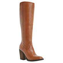 Buy Steve Madden Carter Leather Knee Lenght Boots, Brown Online at johnlewis.com
