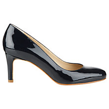 Buy Hobbs Lizzie Leather Court Shoes Online at johnlewis.com