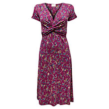 Buy East Helena Print Dress, Magenta Online at johnlewis.com