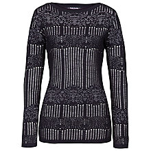 Buy Betty Barclay Wool Mix Jumper, Cream / Black Online at johnlewis.com