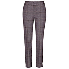 Buy Betty Barclay Check Trousers, Brown Online at johnlewis.com