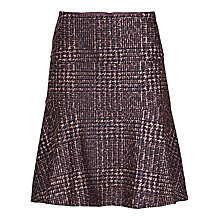 Buy Betty Barclay Muted Check Skirt, Brown Online at johnlewis.com