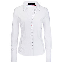 Buy Betty Barclay Collar Contrast Shirt, Bright White Online at johnlewis.com