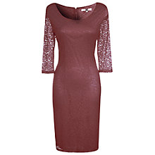 Buy True Decadence Lace Midi Dress, Burgundy Online at johnlewis.com