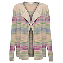 Buy East Space Dye Stripe Cardigan, Oatmeal Online at johnlewis.com