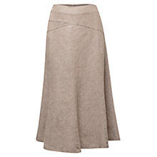 Buy East Cross Dye Full Linen Skirt, Stone Online at johnlewis.com