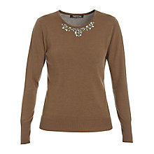 Buy Betty Barclay Stone Detail Jumper, Hazelnut Online at johnlewis.com