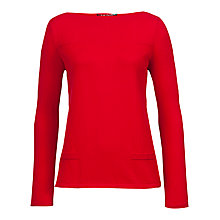 Buy Betty Barclay Fine Knit Jumper, Fire Red Online at johnlewis.com