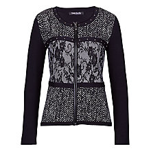 Buy Betty Barclay Zip Front Cardigan, Black Online at johnlewis.com