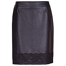 Buy Betty Barclay Pleather Short Skirt, Black Online at johnlewis.com