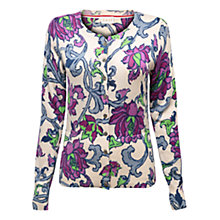Buy East Rhoda Print Cardigan, Magenta Online at johnlewis.com