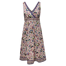 Buy East Audrey Floral Dress, Magenta Online at johnlewis.com