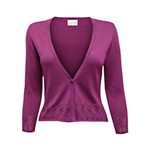 Buy East Pointelle Edge Cardigan, Magenta Online at johnlewis.com