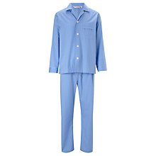 Buy Derek Rose Gingham Cotton Woven Pyjamas, Blue Online at johnlewis.com