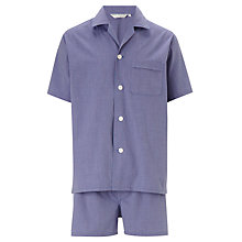 Buy Derek Rose Gingham Shortie Pyjama Set, Navy/Red Online at johnlewis.com