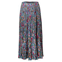 Buy East Georgina Crinkle Skirt, Wedgewood Online at johnlewis.com
