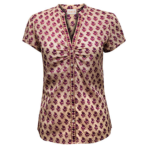 Buy East Cleo Booti Blouse, Pearl Online at johnlewis.com
