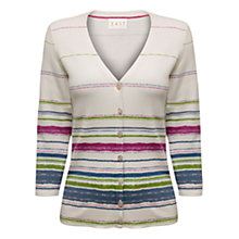 Buy East Painted Stripe Cardigan, Pearl Online at johnlewis.com