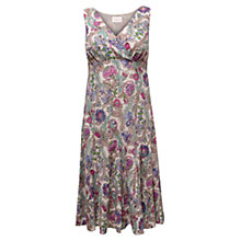 Buy East Georgina Cotton Dress, Pearl Online at johnlewis.com