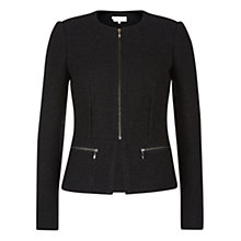 Buy Hobbs Martha Jacket, Black Online at johnlewis.com