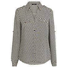 Buy Oasis Geo Heart Print Shirt, Multi Black Online at johnlewis.com