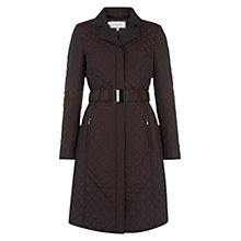 Buy Hobbs Wilhelmina Coat, Chocolate Online at johnlewis.com
