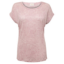Buy East Paisley Jersey Top, Pale Pink Online at johnlewis.com
