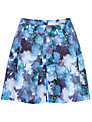 Almari Print Pleat Skorts, Blue