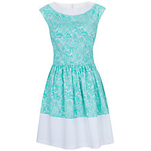 Buy Almari Lace Contrast Dress, Mint Online at johnlewis.com
