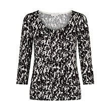 Buy Hobbs Water Print Top, Black Stone Online at johnlewis.com