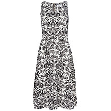 Buy Closet Damask Print Scuba Midi Dress, Black/White Online at johnlewis.com