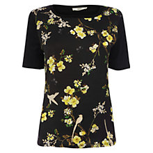 Buy Oasis Bird and Butterfly Print T-Shirt, Multi/Black Online at johnlewis.com