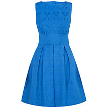 Buy Closet Jacquard Cut-Out Back Dress, Blue Online at johnlewis.com