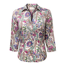 Buy East Georgina Print Shirt, Pearl Online at johnlewis.com