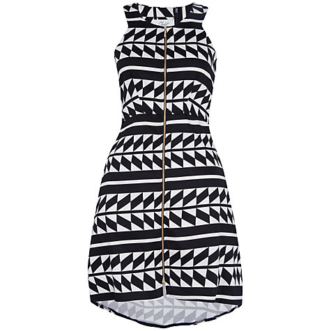Buy Closet Geo Print Zip Dress, Black/White Online at johnlewis.com