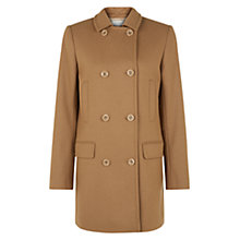 Buy Hobbs Eliza Pea Coat, Camel Online at johnlewis.com