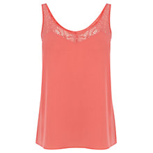 Buy Oasis V-Neck Lace Trim Vest Online at johnlewis.com