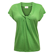 Buy East Twist Front Linen Top, Meadow Online at johnlewis.com