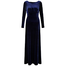Buy Ariella Rafaella Long Sleeve Velvet Dress, Navy Online at johnlewis.com