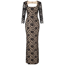 Buy Ariella Natasha Lace Maxi Dress, Black Online at johnlewis.com