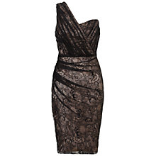 Buy Ariella Courtney One Shoulder Dress, Black/Champagne Online at johnlewis.com